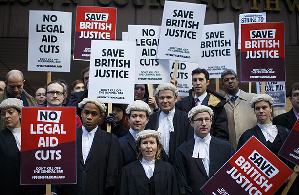 Strike action: Criminal Bar Association votes to support solicitors in legal aid protest