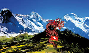 Dragon in the mountains