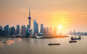 Shanghai, China cityscape