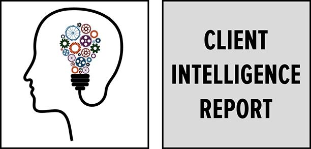 Client Intelligence Report: Data view