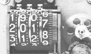 old-fashioned date counter