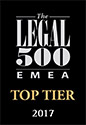 The Legal 500 EMEA top tier 2017