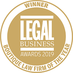Winner of Legal Business Awards 2019: Boutique Law Firm of the Year
