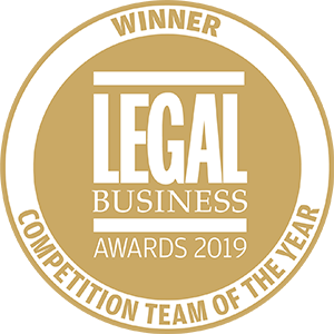 Winner of Legal Business Awards 2019: Competition Team of the Year