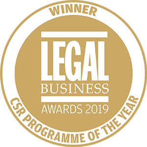 Winner of Legal Business Awards 2019: CSR Programme of the Year