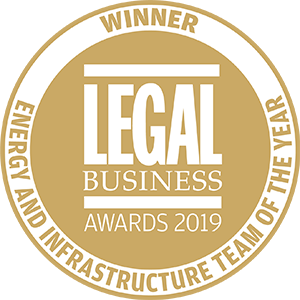 Winner of Legal Business Awards 2019: Energy and Infrastructure Team of the Year