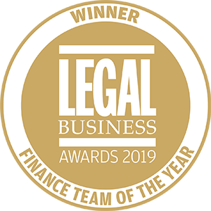Winner of Legal Business Awards 2019: Finance Team of the Year