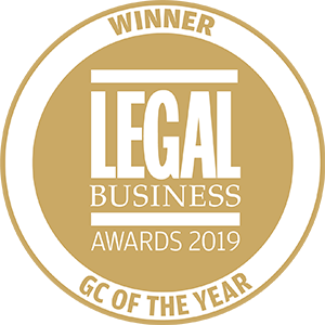 Winner of Legal Business Awards 2019: GC of the Year