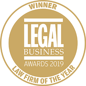 Winner of Legal Business Awards 2019: Law Firm of the Year