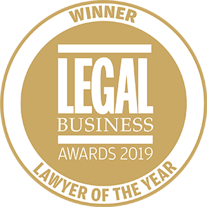 Winner of Legal Business Awards 2019: Lawyer of the Year