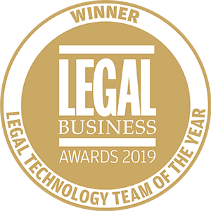 Winner of Legal Business Awards 2019: Legal Technology Team of the Year