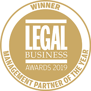 Winner of Legal Business Awards 2019: Management Partner of the Year
