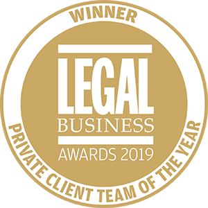Winner of Legal Business Awards 2019: Private Client Team of the Year