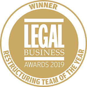 Winner of Legal Business Awards 2019: Restructuring Team of the Year