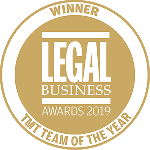 Winner of Legal Business Awards 2019: TMT Team of the Year