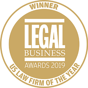 Winner of Legal Business Awards 2019: US Law Firm of the Year