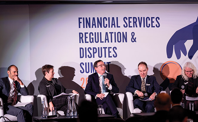 Financial Services Regulation & Disputes Summit 2018 panel discussion