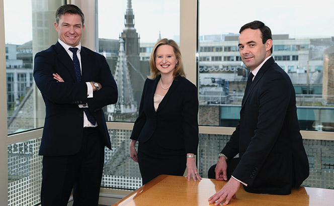 L-R: Andrew Fox, Sara George and Matthew Shankland