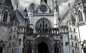 Royal Courts of Justice ruined