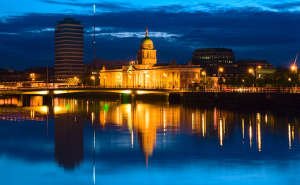 view across river to Custom House, Dublin