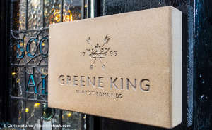 Greene King pub sign