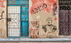 Boris Johnson grafitti wall
