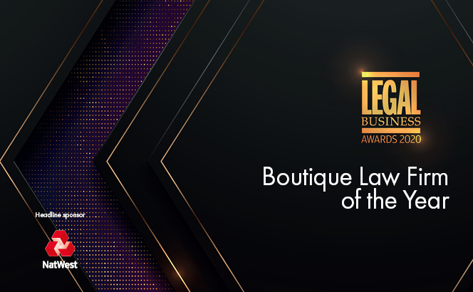 Legal Business Awards 2020 – Boutique Law Firm of the Year