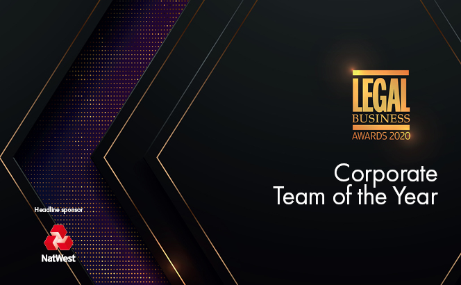 Legal Business Awards 2020 – Corporate Team of the Year
