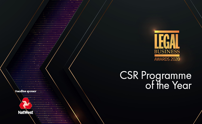Legal Business Awards 2020 – CSR Programme of the Year