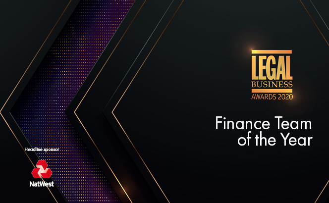 Legal Business Awards 2020 – Finance Team of the Year