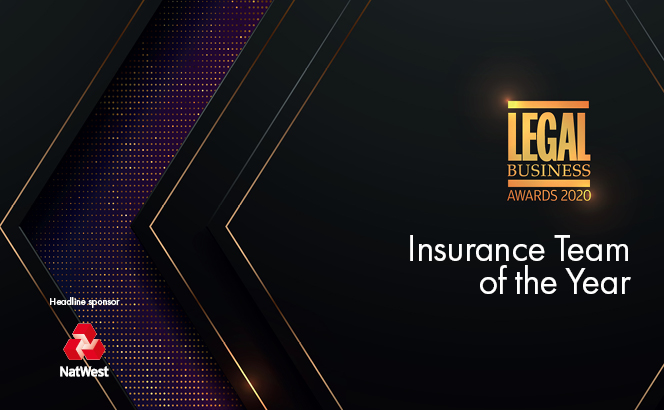 Legal Business Awards 2020 – Insurance Team of the Year