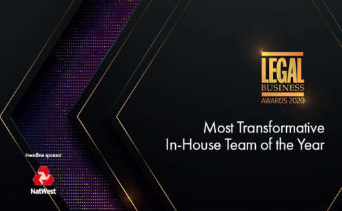 Legal Business Awards 2020 – Most Transformative In-House Team of the Year