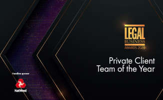 Legal Business Awards 2020 – Private Client Team of the Year