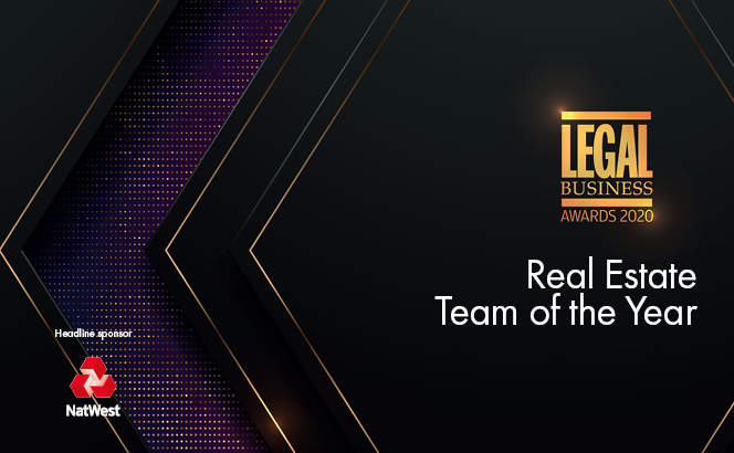 Legal Business Awards 2020 – Real Estate Team of the Year
