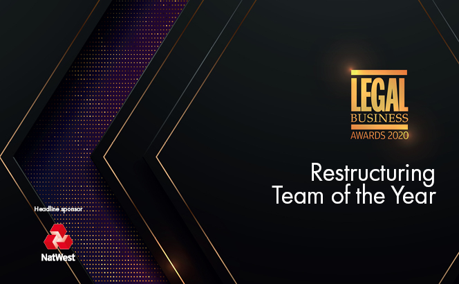 Legal Business Awards 2020 – Restructuring Team of the Year